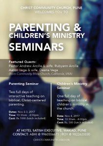Seminar: Christian Parenting @ Hotel Satish Executive | Pune | Maharashtra | India